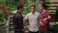 Jack Callaghan, Aaron Brennan, Tyler Brennan in Neighbours Episode 7435
