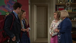 Ben Kirk, Piper Willis, Xanthe Canning, Sheila Canning in Neighbours Episode 7436