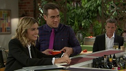Madison Robinson, Aaron Brennan, Paul Robinson in Neighbours Episode 7437