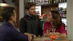 Aaron Brennan, Ned Willis, Elly Conway in Neighbours Episode 7437