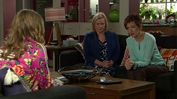 Xanthe Canning, Sheila Canning, Susan Kennedy in Neighbours Episode 7437