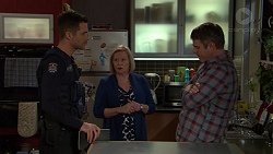 Mark Brennan, Sheila Canning, Gary Canning in Neighbours Episode 7438