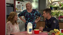 Xanthe Canning, Sheila Canning, Mark Brennan in Neighbours Episode 7438