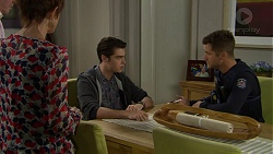 Susan Kennedy, Ben Kirk, Mark Brennan in Neighbours Episode 7438