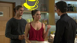Tyler Brennan, Paige Novak, Jack Callaghan in Neighbours Episode 7438