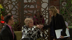 Aaron Brennan, Rhonda Riley, Madison Robinson in Neighbours Episode 7439