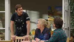 Ned Willis, Lauren Turner, Brad Willis in Neighbours Episode 7439