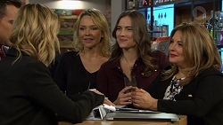 Madison Robinson, Aaron Brennan, Steph Scully, Amy Williams, Terese Willis in Neighbours Episode 7439