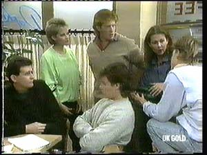 Des Clarke, Daphne Clarke, Clive Gibbons, Mike Young, Louise Laurie, Scott Robinson in Neighbours Episode 0315