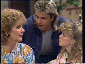 Madge Bishop, Shane Ramsay, Charlene Mitchell in Neighbours Episode 0405