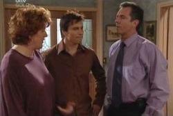 Liz Conway, Darcy Tyler, Karl Kennedy in Neighbours Episode 3993