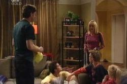 Evan Hancock, Matt Hancock, Maggie Hancock, Leo Hancock, Emily Hancock in Neighbours Episode 3993