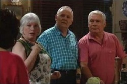 Lyn Scully, Rosie Hoyland, Harold Bishop, Lou Carpenter in Neighbours Episode 3994