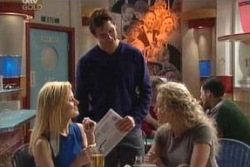 Dee Bliss, Darcy Tyler, Terri Hall in Neighbours Episode 3995
