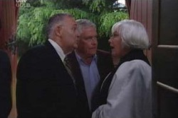 Harold Bishop, Lou Carpenter, Rosie Hoyland in Neighbours Episode 3995