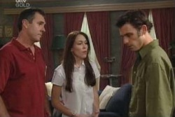 Karl Kennedy, Libby Kennedy, Malcolm Kennedy in Neighbours Episode 3995