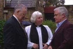 Harold Bishop, Rosie Hoyland, Lou Carpenter in Neighbours Episode 3995