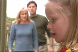 Maggie Hancock, Evan Hancock, Emily Hancock in Neighbours Episode 3999