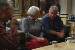 Harold Bishop, Rosie Hoyland, Lou Carpenter in Neighbours Episode 4000