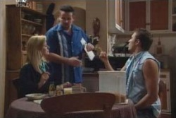 Dee Bliss, Toadie Rebecchi, Stuart Parker in Neighbours Episode 4001
