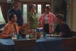 Karl Kennedy, Drew Kirk, Libby Kennedy, Susan Kennedy, Malcolm Kennedy in Neighbours Episode 4002