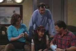 Lyn Scully, Karl Kennedy, Susan Kennedy, Joe Scully in Neighbours Episode 4003