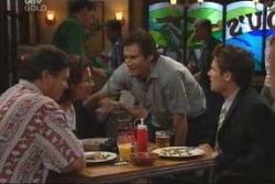 Joe Scully, Lyn Scully, Darcy Tyler, Marc Lambert in Neighbours Episode 4004
