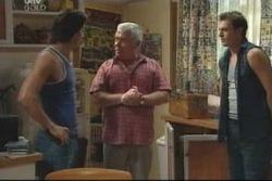 Drew Kirk, Lou Carpenter, Stuart Parker in Neighbours Episode 4005