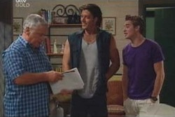 Lou Carpenter, Drew Kirk, Tad Reeves in Neighbours Episode 4009