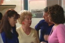 Susan Kennedy, Valda Sheergold, Gino Esposito, Lyn Scully in Neighbours Episode 4012