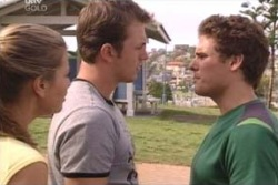 Felicity Scully, Stuart Parker, Marc Lambert in Neighbours Episode 4012