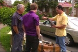Lou Carpenter, Tad Reeves, Karl Kennedy in Neighbours Episode 4014
