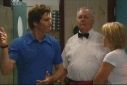 Darcy Tyler, Harold Bishop, Penny Watts in Neighbours Episode 4019