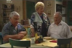 Lou Carpenter, Valda Sheergold, Harold Bishop in Neighbours Episode 4024