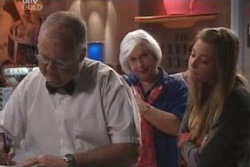 Harold Bishop, Rosie Hoyland, Felicity Scully in Neighbours Episode 4029