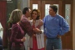 Carmel Tyler, Karl Kennedy, Lyn Scully, Joe Scully in Neighbours Episode 4043