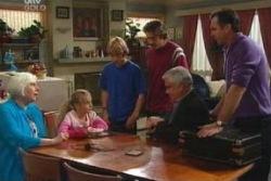 Rosie Hoyland, Summer Hoyland, Boyd Hoyland, Drew Kirk, Lou Carpenter, Karl Kennedy in Neighbours Episode 4045