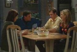 Lyn Scully, Joe Scully, Stuart Parker, Steph Scully in Neighbours Episode 4047