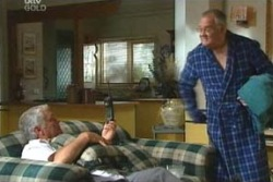 Lou Carpenter, Harold Bishop in Neighbours Episode 4049