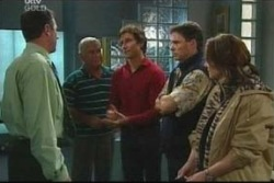 Karl Kennedy, Lou Carpenter, Darcy Tyler, Joe Scully, Lyn Scully in Neighbours Episode 4050