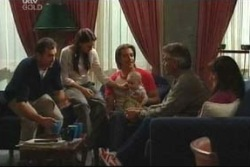 Karl Kennedy, Libby Kennedy, Drew Kirk, Ben Kirk, Craig Benson, Susan Kennedy in Neighbours Episode 4051
