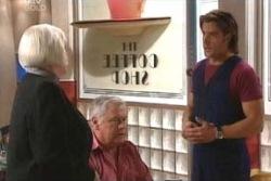 Rosie Hoyland, Lou Carpenter, Drew Kirk in Neighbours Episode 4057
