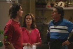 Drew Kirk, Lyn Scully, Joe Scully in Neighbours Episode 4058