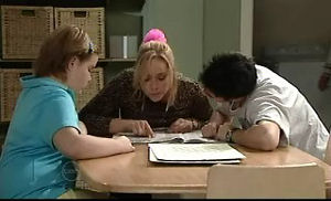 Bree Timmins, Janelle Timmins, Stingray Timmins in Neighbours Episode 4740