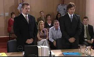 Toadie Rebecchi, Darcy Tyler, Izzy Hoyland, Karl Kennedy, David Bishop, Susan Kennedy in Neighbours Episode 4761