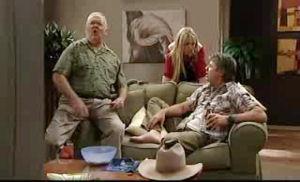 Harold Bishop, Sky Mangel, Joe Mangel in Neighbours Episode 4775