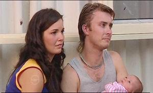 Kayla Thomas, Ashley Thomas, Anthony Johnson in Neighbours Episode 4777