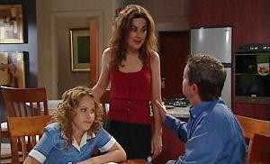Serena Bishop, Liljana Bishop, David Bishop in Neighbours Episode 4779