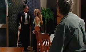 Paul Robinson, Serena Bishop, Joe Mangel in Neighbours Episode 4780