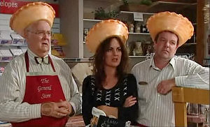 Harold Bishop, Liljana Bishop, David Bishop in Neighbours Episode 4789